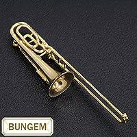 楽器GAKKI トロンボーン( trombone) なし ─ ブローチ等 K18 繊細ラインとK18ゴールドの鏡面が見事 /黄(イエロー)/セレクトジュエリー・新品/届10/ラックジュエル luckjewel/1ab00283