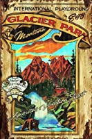 Vintage Signs–Glacier Park大Nostalgic広告サイン