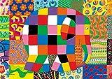 108ピース ジグソーパズル プリズムアート ぞうのエルマー エルマーのとくべつな日(18.2x25.7cm)