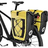 ROCKBROS(ロックブロス)パニアバッグ 自転車 リアバッグ サイドバック キャリアバッグ 防水 大容量 キャンプ ツーリングバッグ アウトドア用 20L 40L 1個 2個セット
