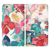 iPhone6S iPhone6 手帳型 ケース カバー ボタニカル T ブレインズ 花柄 ハワイアン ボタニカル柄 ハイビスカス おしゃれ