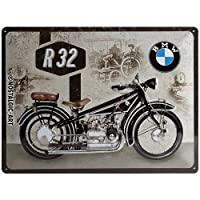 Na nostalgic-art 23232Bmw Motorcycle r32、金属Tin Sign 30x 40cm multi-coloured、30x 40x 0.2CM
