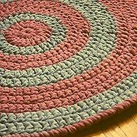 ハンドメイド かぎ針編み エリアラグ 浴室 寝室 キッチン用 直径34インチ。