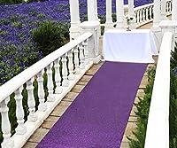 """zdadaアウトドアウェディングスパンコール通路ランナーパーティーSparkling床ランナー用ウェディングパーティーイベント 48""""x15ft パープル FG0530 48''*15ft purple runner"""