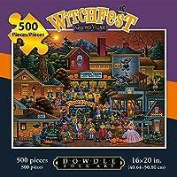 ジグソーパズル–Gardner村Witchfest 500pc by Dowdleフォークアート