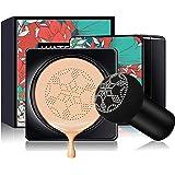 Mushroom Head Air Cushion CC Cream Foundation, Moisturizing BB Cream Concealer Makeup Base Long Lasting with Mushroom Makeup