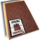 Phthalate & BPA Free. XL Size Cat Litter Mat - Mesh Mat Catches Litter - Repels Odor & Liquid - Litter Free Floors. Extra Soft, Easy Clean. iPrimio Brand. Brown.