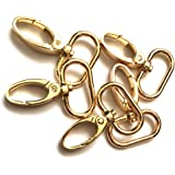 "15 Pcs 1"" Inside Diameter Oval Ring Lobster Clasp Claw Swivel for Strap Push Gate Lobster Clasps Hooks Swivel Snap Fashion Cl"