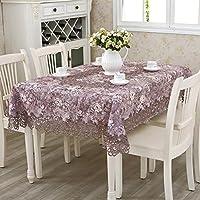 ZWL テーブルクロスヨーロッパスタイルのテーブルクロスコーヒーテーブルクロステーブルクロスラウンドテーブルクロススクエアテーブルクロス 、キッチンに活力を与える ( 色 : B , サイズ さいず : 135*180cm )
