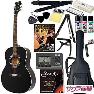 HONEY BEE アコースティックギター F-15 初心者入門16点セット /ブラック(9707021238)