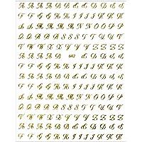ネイルシール【貼るタイプ】スクリプト体アルファベットシール【642】 スクリプト体アルファベットシール【ゴールド】アルフ…