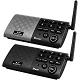 HOSMART Wireless Intercom System Two Way Communication Home and Office,with Crystal Clear Sound, 1000 feet Range(1 Main 1 Sub