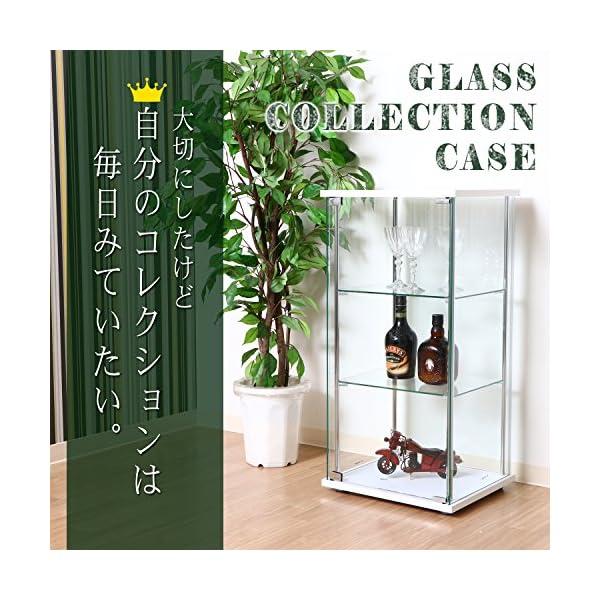 不二貿易 ガラスコレクションケース 3段 幅4...の紹介画像2