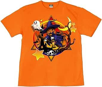 [GENJU] Tシャツ HALLOWEEN ハロウィン Tシャツ イベント スポーツジム ダンス イベント 表もデザインあり メンズ キッズ