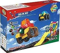X-Bar Translucent Magnetic Bars and Steel Spheres 49 Piece Stunt Racer Set 【You&Me】 [並行輸入品]