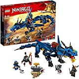 LEGO NINJAGO Masters of Spinjitzu: Stormbringer 70652 Ninja Toy Building Kit with Blue Dragon Model for Kids, Best Playset Gift for Boys