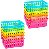 Bright Creations Plastic Classroom Storage Baskets (12 Pack) 6 Colors
