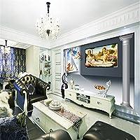 Sproud 3 D 壁紙絵画カスタム装飾背景、モダンなヨーロッパ天使信仰ローマホテルレストランリビングルーム 300 Cmx 210 Cm