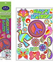 Peace Signs Glow in the Dark Removable Wall Decorations ダークリムーバブルウォールデコレーションでピースサイングロー♪ハロウィン♪クリスマス♪