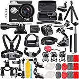 Neewer G1 Ultra HD 4Kアクションカメラキット 12MP、30m 170度広角スポーツカメラ/水中防水カメラと50-In-1 アクションカメラアクセサリセット付き
