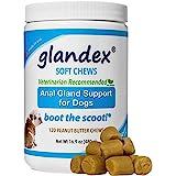 Glandex Soft Chews 120 Count, Anal Gland Fiber, Pumpkin & Probiotic Digestive Supplement No Scoot for Dogs