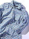 (シップスジェットブルー) SHIPS JET BLUE : インディゴチェック スタンドワイヤー7スリーブシャツ 121310088 日本 M-(日本サイズM相当) Blue2