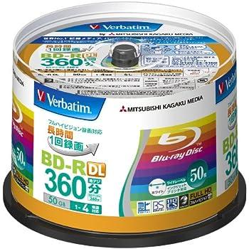 三菱ケミカルメディア Verbatim 1回録画用 BD-R DL VBR260YP50V1 (片面2層/1-4倍速/50枚)
