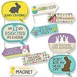 Funny Hippity Hoppity – Easterパーティー写真ブース小道具キット – 10 Piece