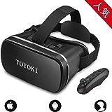 【Amazon.jp限定】TOYOKI VRゴーグル 3D VR ヘッドセット コントローラ/リモコン 付き 4.0-6.0インチのスマホ対応 ブラック