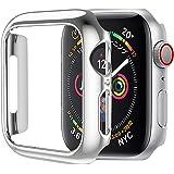 HOCO コンパチブル Apple Watch6/SE/5/4 ケース アップルウォッチ カバー 44mm メッキ PC素材 軽量超簿 耐衝撃性 脱着簡単 Apple Watch 保護ケース Apple Watch Series6/SE/5/4に対応