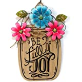 Asdomo Wooden DIY Welcome Sign for Front Door Home Decoration, Flower Decor Hanging Pendant Tags Craft Sig Home Wall Door Orn