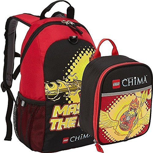 Lego Chima Master the Fire Backpack and Lunch Box Bag Set Kit [並行輸入品]