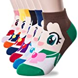 Yancos Sailor Moon Cute Cartoon Socks 6 Pairs