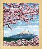 オリムパス製絲 ししゅうキット「桜と富士山」 No.7386