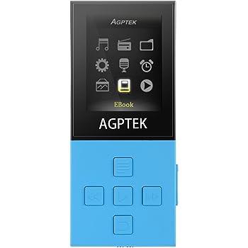 AGPtEK A18 bluetooth3.0搭載 容量8GB ロスレス音質再生で50時間 MP3プレーヤー マイクロSDカード64GBに対応(ブルー)