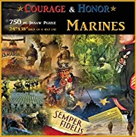 Americana Souvenirs and Gifts Courage and Honor Marines Puzzle [並行輸入品]