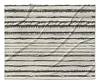 KAVKA DESIGNS Bolzano Fleece Blanket, (Beige/Black) - ENCOMPASS Collection, Size: 80x60x1 - (TELAVC1490VPL) [並行輸入品]