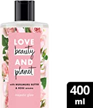 Love Beauty And Planet Murumuru Butter and Rose Majestic Glow Body Wash, 400ml