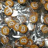 Bitcoin缶バッジストラップ (35mm、3個セット)