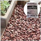 砕石 レッドロック 赤色 砂利 大理石 約1.5cm 10kg