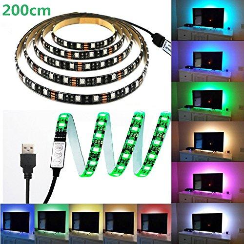 LED テープライト、LHYAN 2M LEDテレビバックラ...