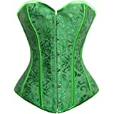 Kimring Women's Vintage Palace Jacquard Body Shaper Strapless Overbust Corset