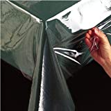 Benson Mills Clear Plastic Tablecloth Protector, 60-Inch by 108-Inch Oblong