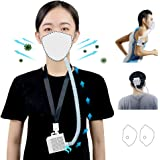 4WDKING Rechargeable Electrical Air Purifying Respirator, Reusable Portable Air Purifier with HEPA Filter for Sleeping Outdoo