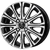【適合車種:スズキ ワゴンR(MH23S)2008~ サマータイヤセット】 YOKOHAMA Bluearth AE-01 155/65R14 夏用タイヤとホイールの4本セット アルミホイール:WORK プロミッシング スタイルV_ブラックメタリックカットクリア 4.5-14 4/100 (14インチ サマータイヤセット)