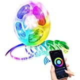 Glückluz Smart WiFi LED Strip Light 5 Meter 300 LED RGB 16 Million Color Smart Phone APP Control Decoration Rope Light with 1