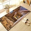 Yanqiao 床用のステッカー 回転段階 防水 防滑 板敷きの床のマット 欧米風 おしゃれでかわいい 床飾り
