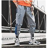 [ボワサ] ジョガーカーゴパンツ メンズ アンクルパンツ 反射パンツ ロングパンツ ズボン ワイド ヒップホップ おしゃれ カジュアル スポーツ ダンス トレーニング 旅行 安全 蛍光 オリジナルデザイン