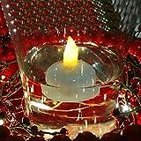 防水フローティングTealights WarmホワイトLEDフレイムレスキャンドルプールTea Lights forウェディングクリスマス誕生日パーティインドア/アウトドアデコレーション12個 イエロー LO-FL-03-01
