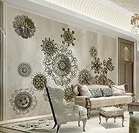 Mbwlkj 3Dの壁紙のテクスチャのモダンな改築のリビングルームの写真の壁紙美しいラインの花を屋内用 3D壁の壁画があります。-450Cmx300Cm